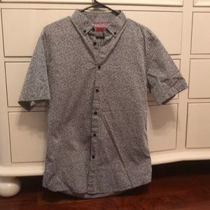 Alfani button up short sleeved shirt